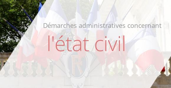 démarches état civil